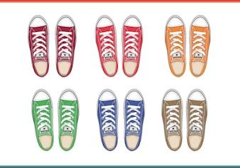 Sapatos masculinos vista de cima