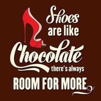 Sapatos são como há de chocolate sempre espaço para mais
