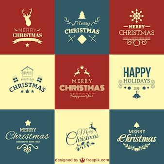 Saudações de Natal definido