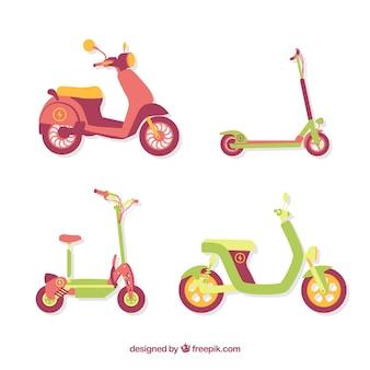 Scooters elétricos com estilo adorável