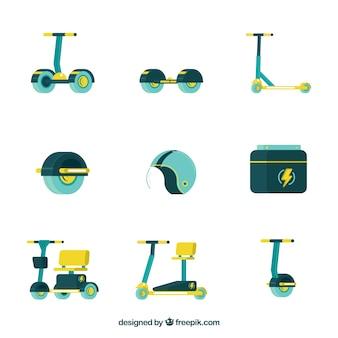 Scooters urbanos com design plano