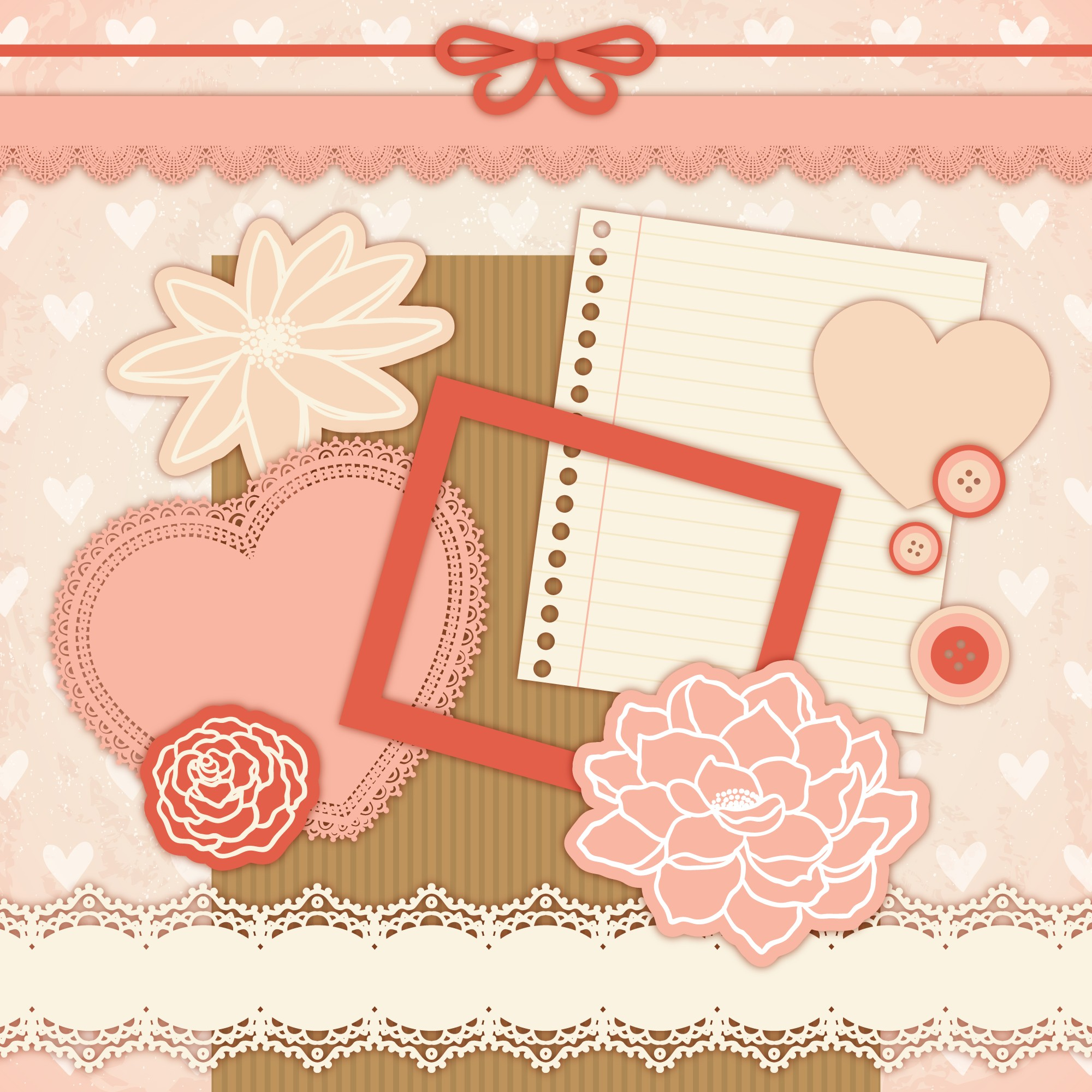 Scrapbooking no estilo do vintage