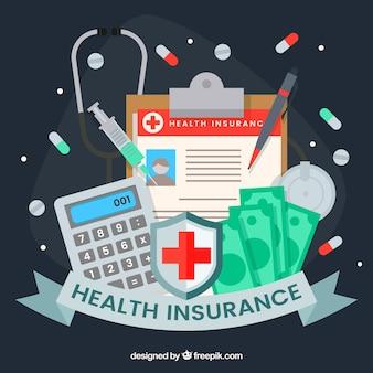 Seguro médico e ferramentas médicas