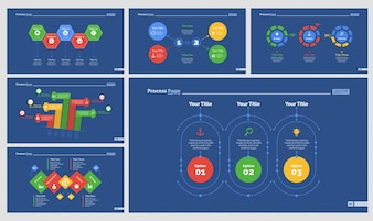 Seis diagramas de estratégia conjunto de modelos de slides