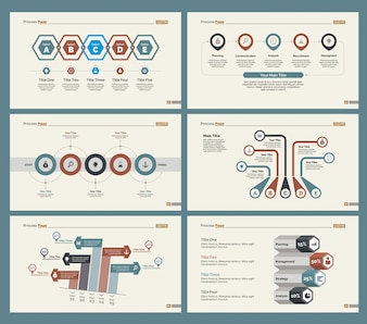 Seis diagramas de finanças conjunto de modelos de slides