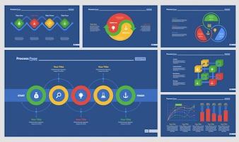 Seis diagramas de planejamento conjunto de modelos de slides