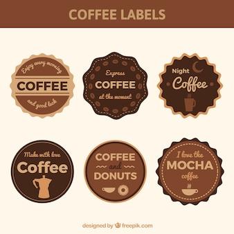 Seis etiquetas para café