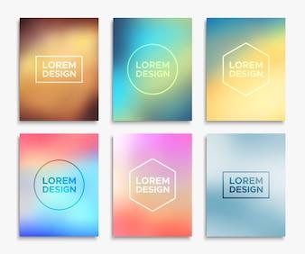 Seis modelos coloridos