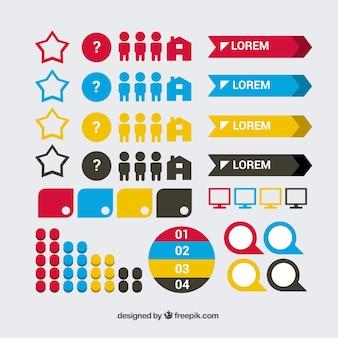 Seleção de elementos infográficos úteis
