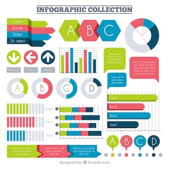 Seleção de fantásticos itens infográficos