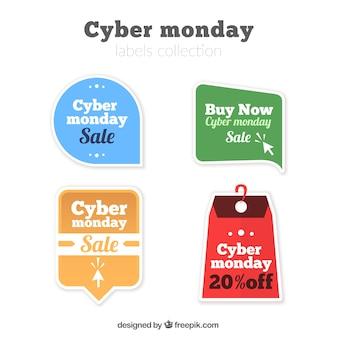 Selecção de etiquetas da venda para segunda-feira do cyber