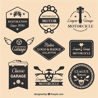 Selecção de nove logotipos a motor