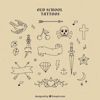 Selecção tatuagens da velha escola