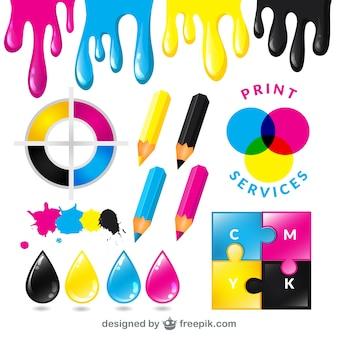 Serviços de impressão CMYK
