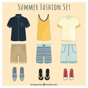 set verão moda elegante para homens