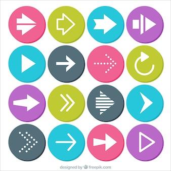 Setas circulares ícones