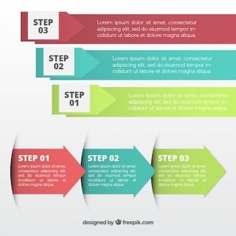 Setas diferentes infográfico