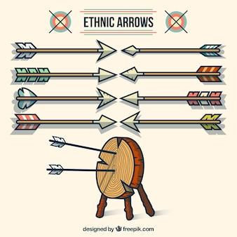Setas étnicos ilustração