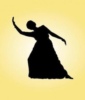 Silhueta da dança indiana
