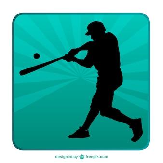 Silhueta de beisebol fundo