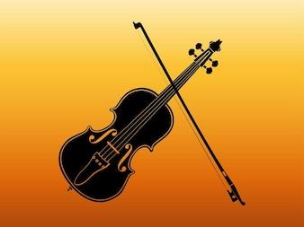 silhueta de um violino