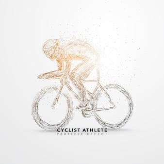 Silhueta do atleta ciclista