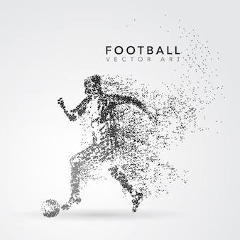 Silhueta do jogador de futebol
