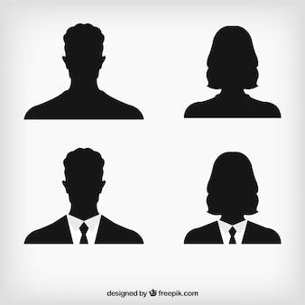 Silhuetas avatar Humanos