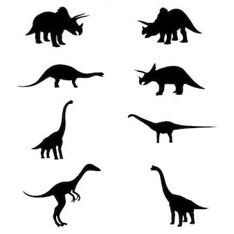 Silhuetas do dinossauro