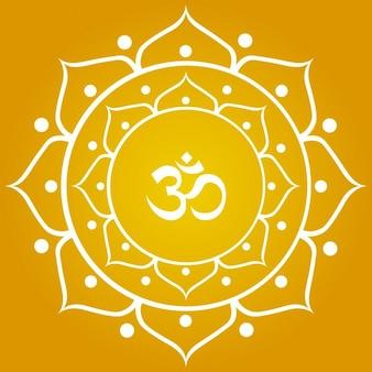 Símbolo do OM On Ornamental Flower