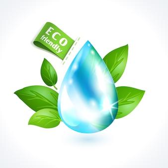 Símbolo ecológico gota de água