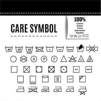Símbolos cuidados da roupa