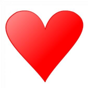 símbolos do cartão: o coração