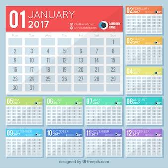 Simples 2017 calendário