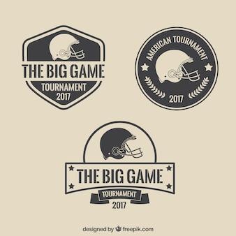 Simples emblemas do Super Bowl Vintage