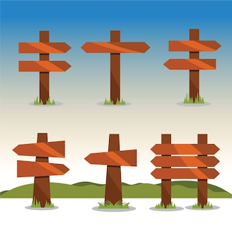 Sinais de madeira