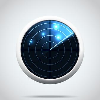 Sinal de luva display de radar azul eps 10