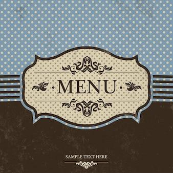 Sinal do menu vintage