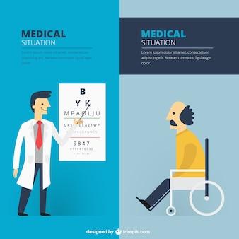 situações médicas com o paciente