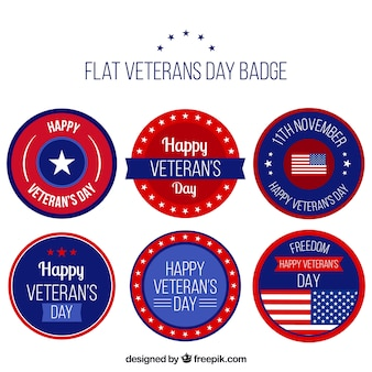 Six badges do dia do veterano