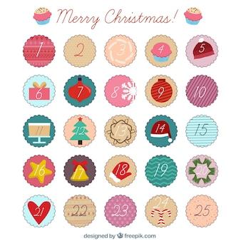 Sketches calendário do advento do Natal