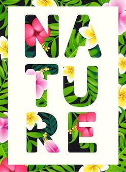 Slogan de impressão tropical.
