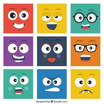 Smileys quadrados embalar