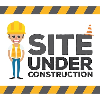 Sob web design construção