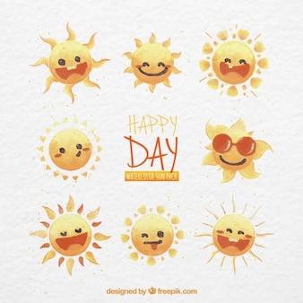 Sóis felizes dia