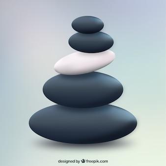 Spa pedras empilhadas