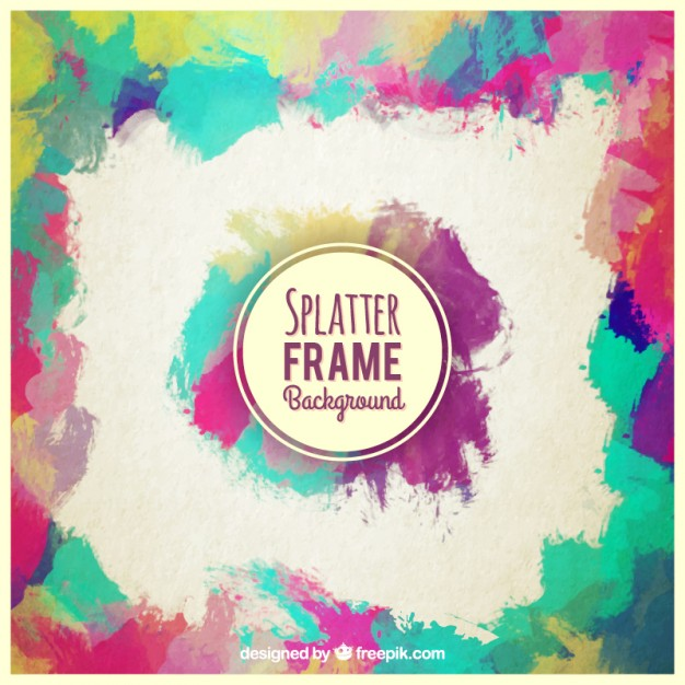 Splatter background frame