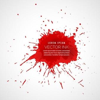 Splatter vermelho efeito de gota de tinta