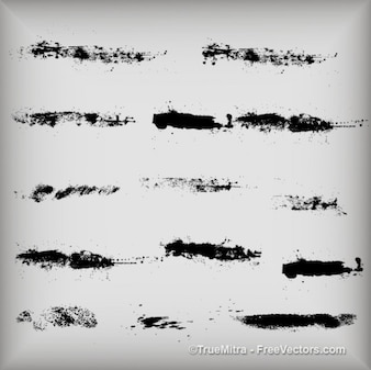 Sujo traços de tinta textura pincel de aquarela preto