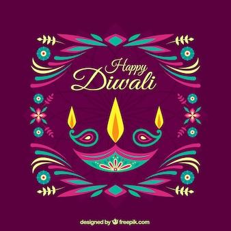 Sumário colorido Diwali fundo